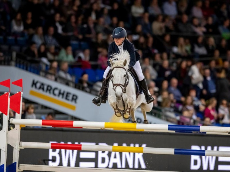 Opaline Optima 6th in Worldcup ponies (1m35) Stuttgart